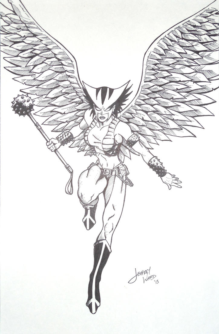 Hawkgirl coloring pages