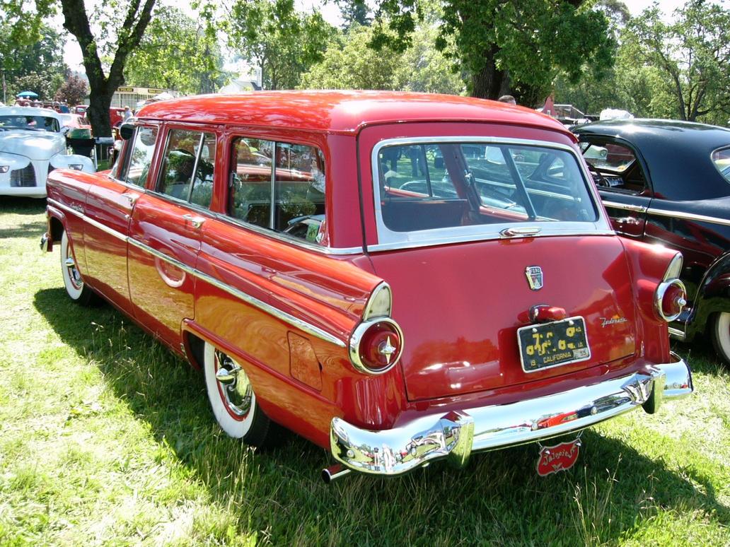 1955 Country Sedan Red Wagon by RoadTripDog
