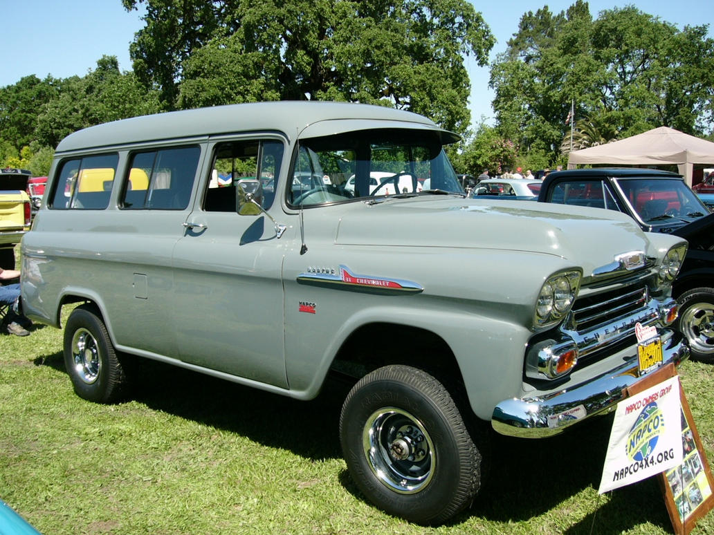 All Chevy chevy apache 4×4 : 1958 NAPCO 4X4 Suburban by RoadTripDog on DeviantArt