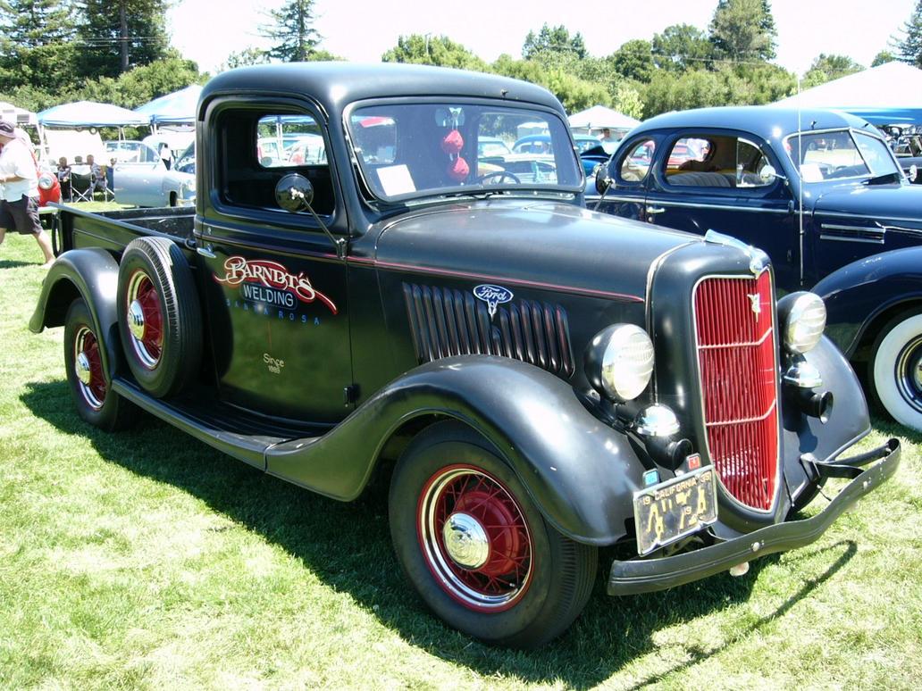 1935 ford v8 pickup truck by roadtripdog on deviantart. Black Bedroom Furniture Sets. Home Design Ideas