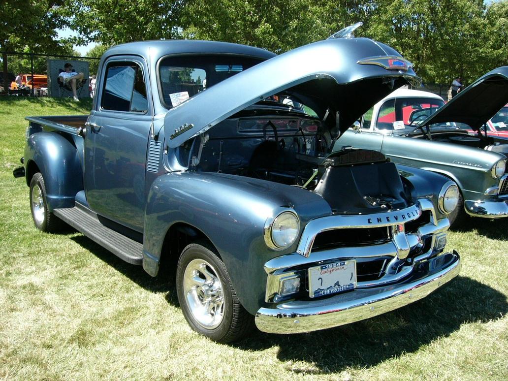 1954 Chevrolet Blue 3100 Truck By Roadtripdog On Deviantart Paint Colors