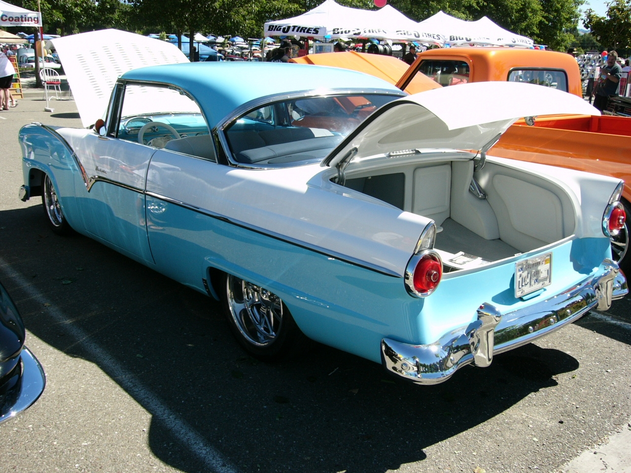 1955 ford victoria customized 2 door hardtop by