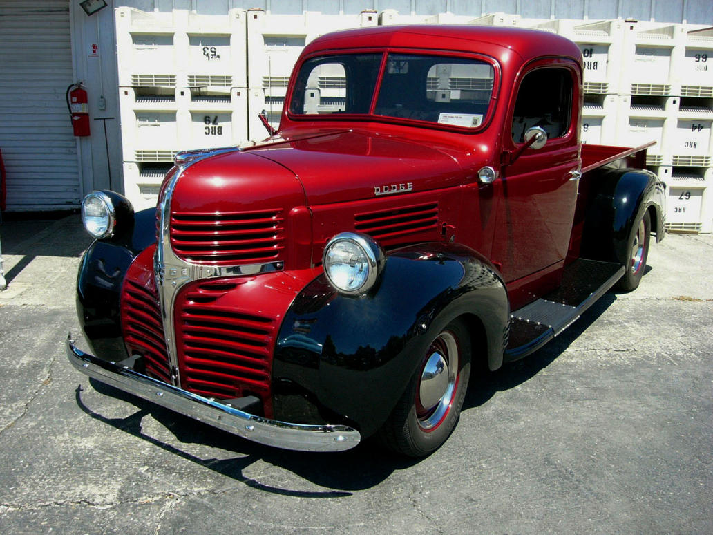 Rollin' with the good times in a 1946 Dodge pickup by RoadTripDog on
