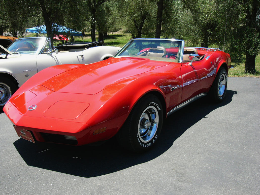 1973 Corvette Convertible in Luscious Red by RoadTripDog