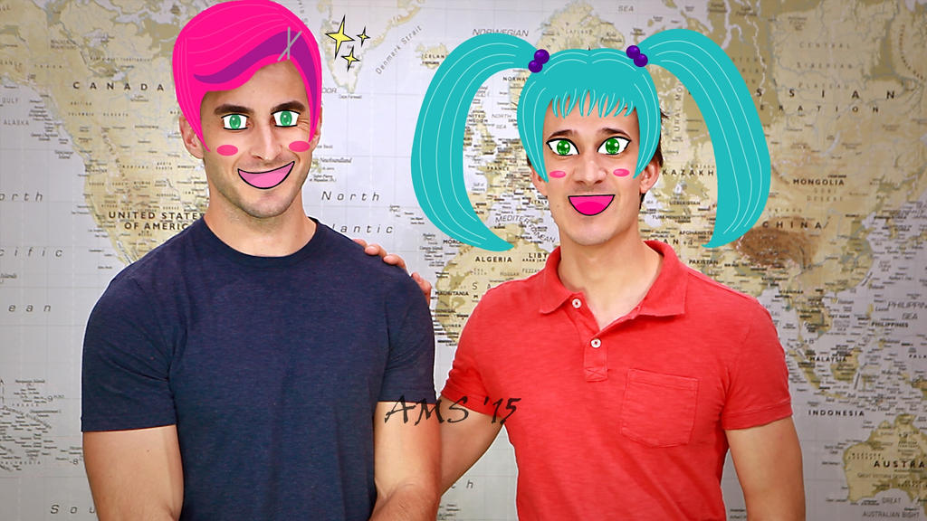 Horribly Kawaii Aaron Marquis and Chris Demarais by linkismyhero15