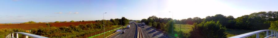Panoramic - Under the Bridge by frankcom