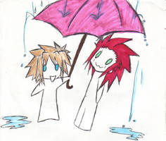 AkuSora Umbrella ella by DemonKikyo