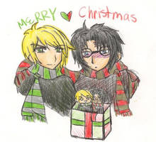 Merry Xmas Draco Harry Plz by DemonKikyo