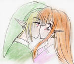 Link and Malon kissie