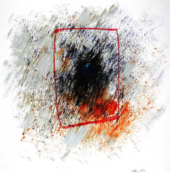 Black square. impression.