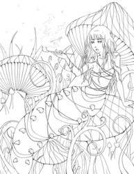 AiW: Caterpillar line art by chiroxsox