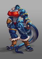 Roone Barbarian dragon -Comm-