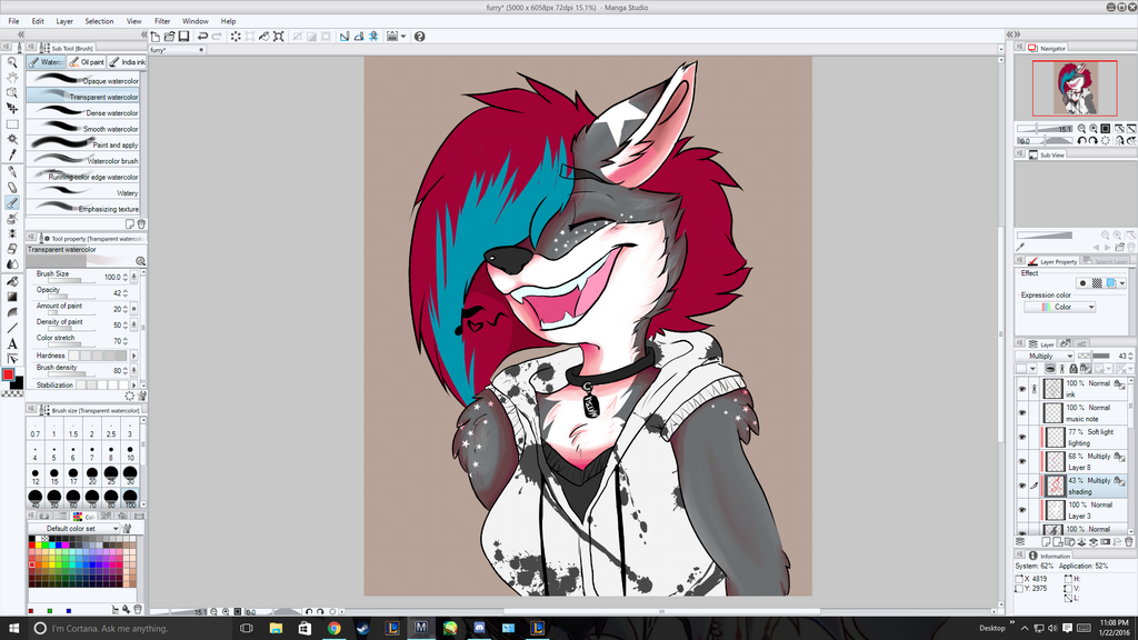 Furry Wip Manga Studio 5 by ilovepastaaa