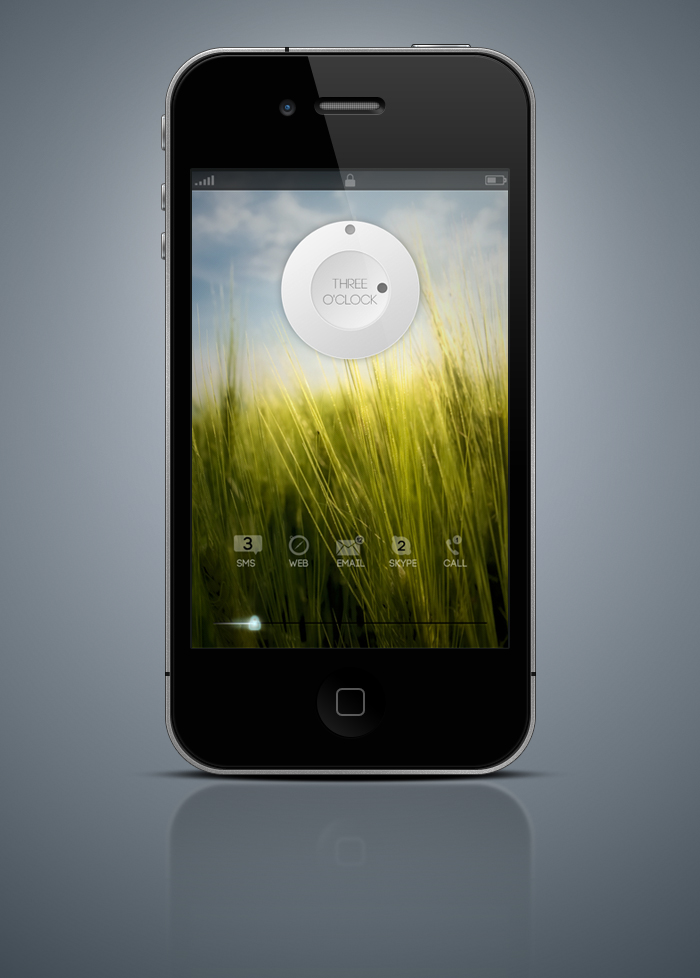 Lockscreen Mockup by App-Juice