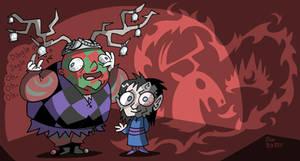 aSoIaF Cartoonimen- Shireen and Patchface