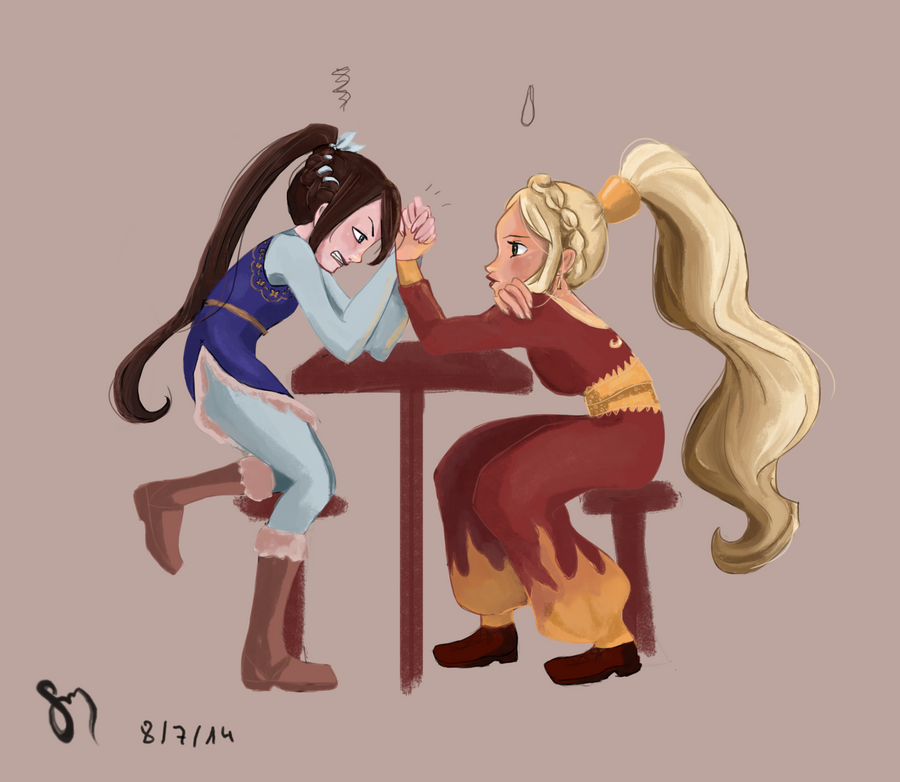 Arm wrestling by saratopale