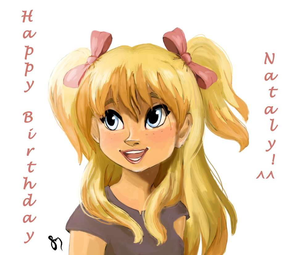 Happy Birthday Nataly by saratopale