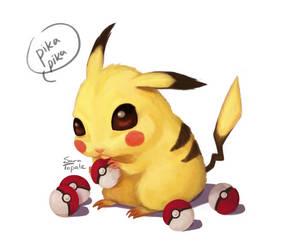 Pikachu by saratopale