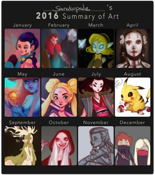 2016 Summary of Art by saratopale
