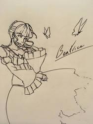 Inktober Day 4: Beatrice