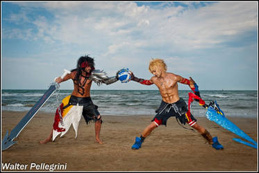 Tidus vs Jecht - Final Fantasy Dissidia Duodecim by LeonChiroCosplayArt