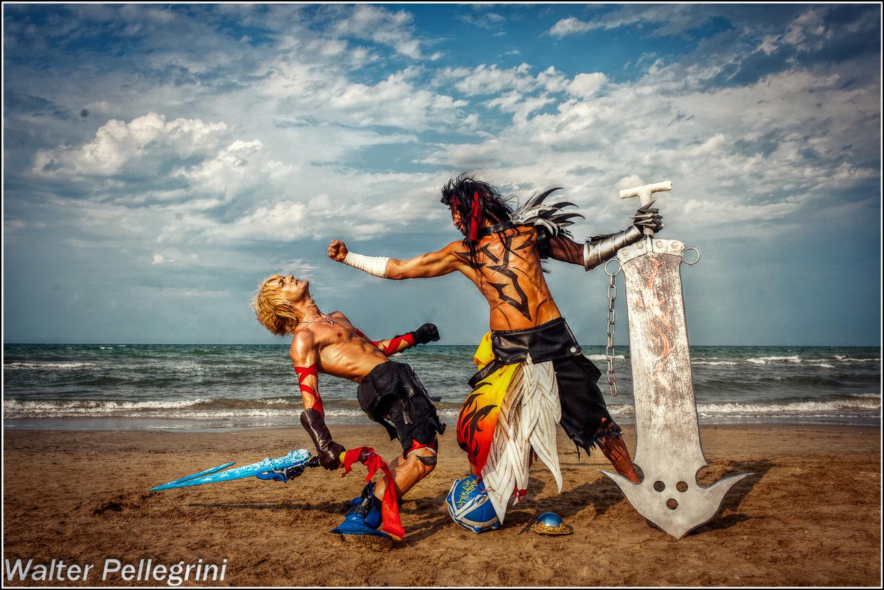 Tidus vs Jecht Cosplay by Leon Chiro Cosplay Art by LeonChiroCosplayArt