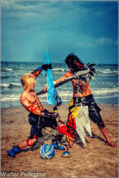Final Fantasy Dissidia012 Cosplay - Tidus vs Jecht by LeonChiroCosplayArt