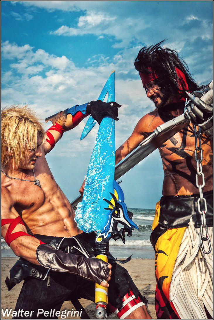 Tidus Vs Jecht Cosplay Final Fantasy - Gonna Cry? by LeonChiroCosplayArt