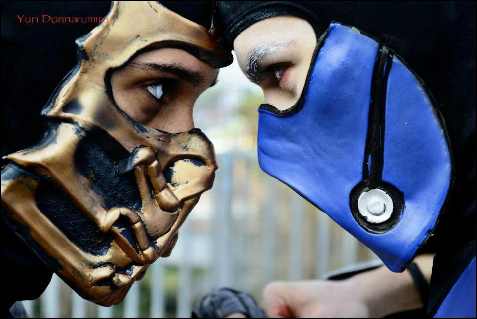 Scorpion vs Sub-Zero Cosplay - Fire VS Ice by LeonChiroCosplayArt