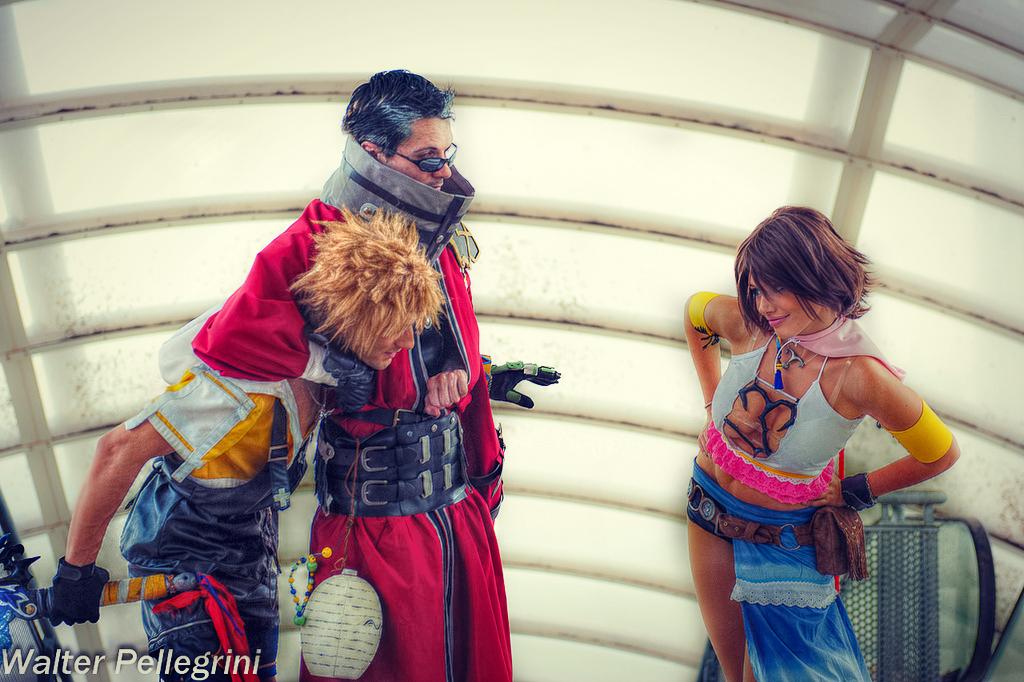 Final Fantasy X Cosplay - Tidus, Auron and Yuna by LeonChiroCosplayArt