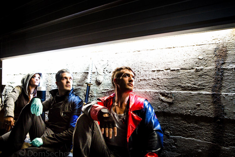DmC Cosplay Kat, Vergil and Dante - Waiting for... by LeonChiroCosplayArt
