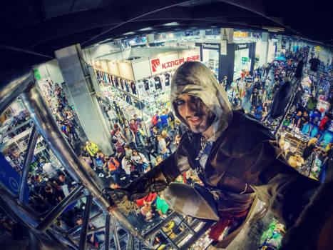 Leon Chiro in Gamescom 2014 Assassin's Mega Selfie