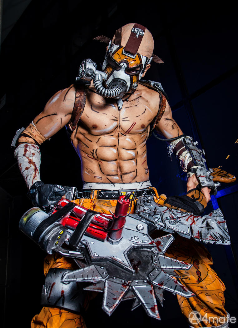 Borderlands 2 Cosplay - Psycho Krieg by Leon Chiro by LeonChiroCosplayArt