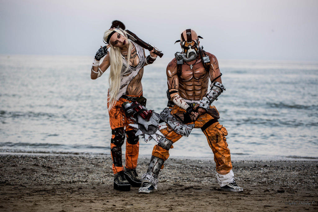 psycho krieg borderlands 2 cosplay leon and jess by