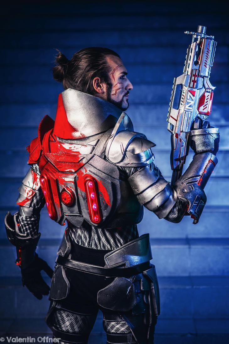 Commander Shepard - Mass Effect 3 Cosplay (Back) by LeonChiroCosplayArt