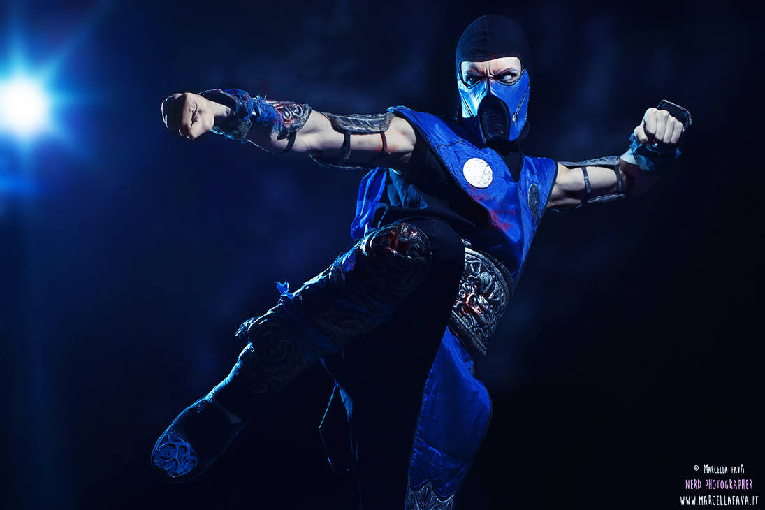 Sub Zero waiting Mortal Kombat X Cosplay by LC Art by
