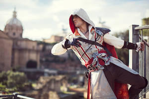 Ezio Auditore in Rome - Cosplay Assassin's Creed 2