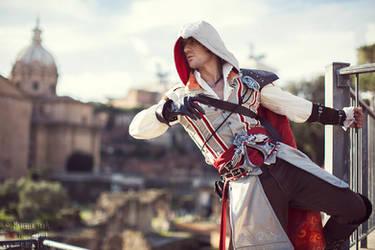 Ezio Auditore in Rome - Cosplay Assassin's Creed 2