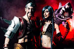 Draven and Jinx - League of Legends Cosplay Art