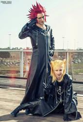 Axel and Larxene Cosplay Art - Kingdom Hearts by LeonChiroCosplayArt