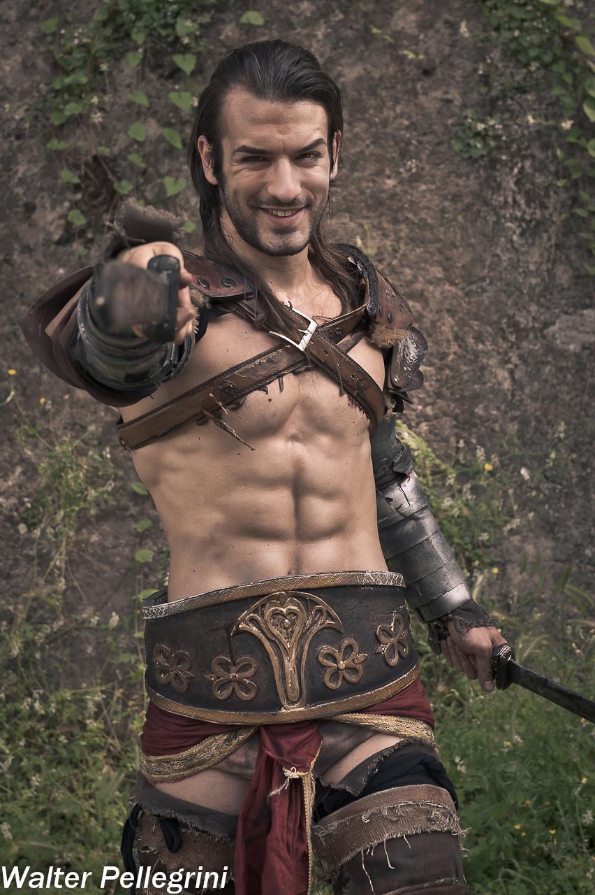 Gannicus Cosplay -Challenge me Spartacus ! Leon C.