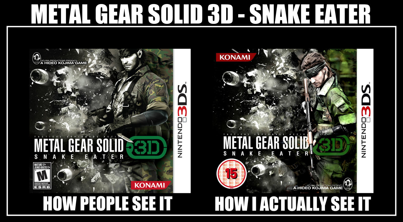 Metal Gear Solid 3D - How I actually see it *MEME*