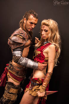 Gannicus and Saxa Cosplay - Spartacus LOVE