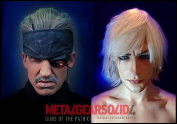 MGS 4 - RBF and Leon Chiro as Old Snake and Raiden by LeonChiroCosplayArt