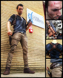 Uncharted 4 : Nathan Drake Cosplay by Leon Chiro by LeonChiroCosplayArt