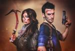 Nathan Drake and Lara Croft -Select your Character