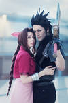 Zack and Aerith - Cosplay Art by Leon and Yuriko