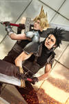 Zack and Cloud - Final Fantasy VII Cosplay - Feels