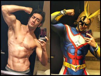 ALL MIGHT COSPLAY Transformation by Leon Chiro by LeonChiroCosplayArt