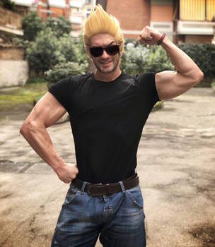 Real Life Johnny Bravo by Leon Chiro Cosplay Art by LeonChiroCosplayArt
